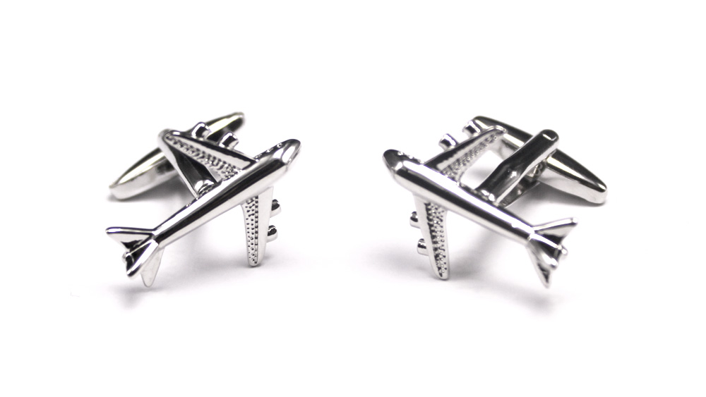 Airplane Buttons Cufflink