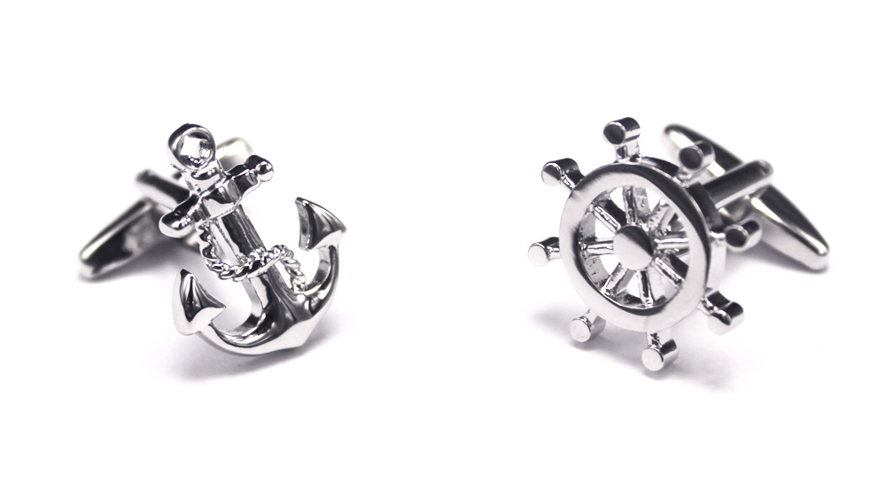 Boat Wheel Anchor Cufflinks