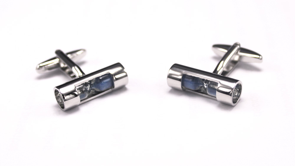 Blue Hourglass Buttons Cufflinks