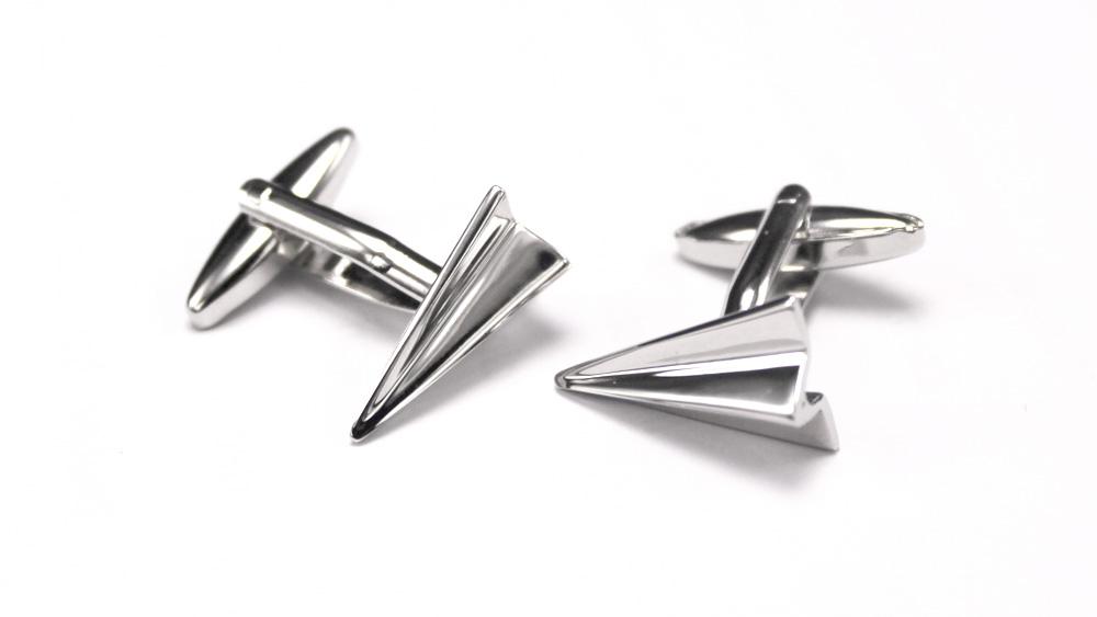 Paper Airplane Buttons Cufflink