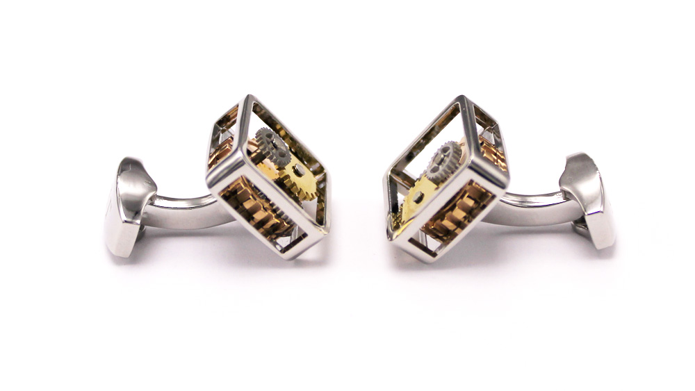 Quad Face Button – Argentate Cufflinks