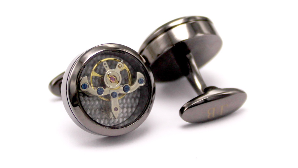 Timeless Tourbillon – Onyx Black Cufflinks